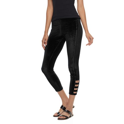 502f7fb75e3fd Utopia by HUE Railroad Velvet Skimmer Leggings