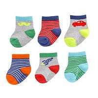 Baby Boy Carter's 6-pk. Graphic Crew Socks