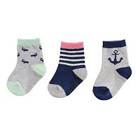 Baby Boy / Toddler Boy Carter's 3-pk. Printed Crew Socks