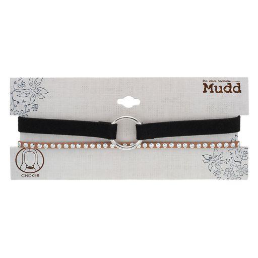 Mudd® O-Ring & Studded Choker Necklace Set