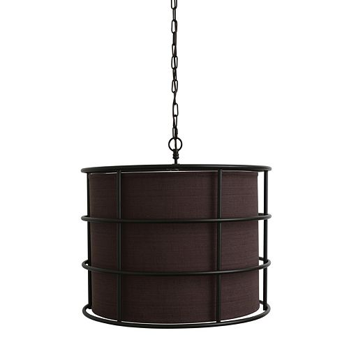 Decor Therapy Round Steel Cage Pendant Light