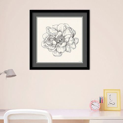 Amanti Art Pen And Ink Florals IV Framed Wall Art