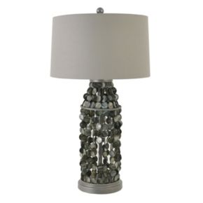 Decor Therapy Beaded Capiz Shell Table Lamp