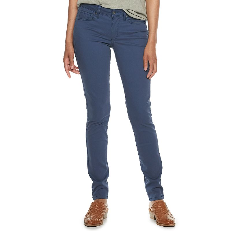 7581ae2d96a Women's SONOMA Goods for Life™ Supersoft Midrise Sateen Skinny Pants