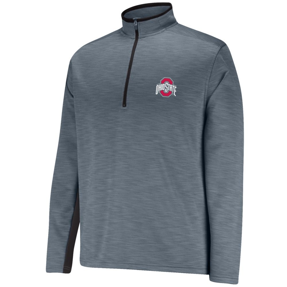Ohio State Buckeyes First Down II Half-Zip Fleece Pullover