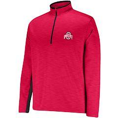 Men's Ohio State Buckeyes Fleece Quarter-Zip Top