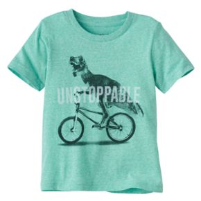 "Toddler Boy Jumping Beans® Dinosaur & Bike ""Unstoppable"" Graphic Tee"