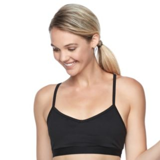 Juniors' SO® Cross-Back Solid Sports Bra