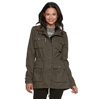 madden NYC Juniors' Military Detail Anorak Jacket