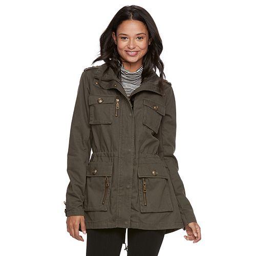 madden NYC Juniors' Military Detail Anorak Jacket