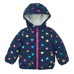 Girls 4-6x Carter's Heart Puffer Jacket