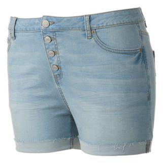 Juniors' Plus Size Mudd® High-Waist  Midi Shorts