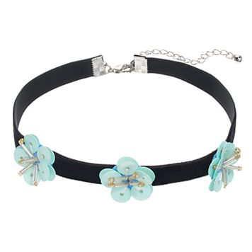 Mudd® Blue Flower Choker Necklace