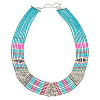 Mudd® Tribal Beaded Multi Strand Necklace