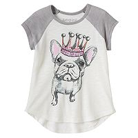Toddler Girl Jumping Beans® French Bulldog Sequined Graphic Tee