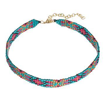 Mudd® Bird's-Eye Seed Bead Choker Necklace