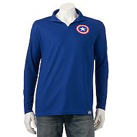 Men's Marvel Hero Elite Captain America Quarter-Zip Top