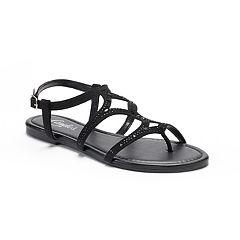 Women's Candie's® Rhinestone Toe Loop Sandals