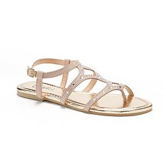 Women's Candie's® Rhinestone Toe Loop Sandals