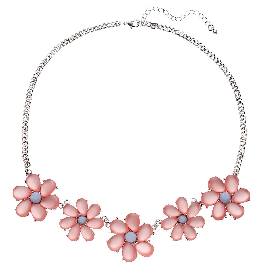 Mudd® Pink Flower Necklace