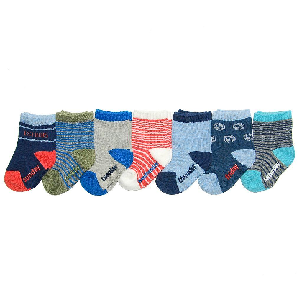 Baby Boy / Toddler Boy OshKosh B'gosh® 7-pk. Printed Crew Socks