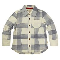 Toddler Boy Burt's Bees Baby Organic Plaid Button Down Shirt