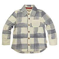 Toddler Boy Burt's Bees Baby Organic Plaid Button Down Shirt