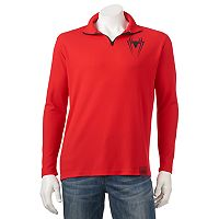 Men's Marvel Hero Elite Spider-Man Quarter-Zip Top