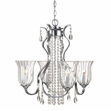 Decor Therapy 4-Light Crystal Chandelier