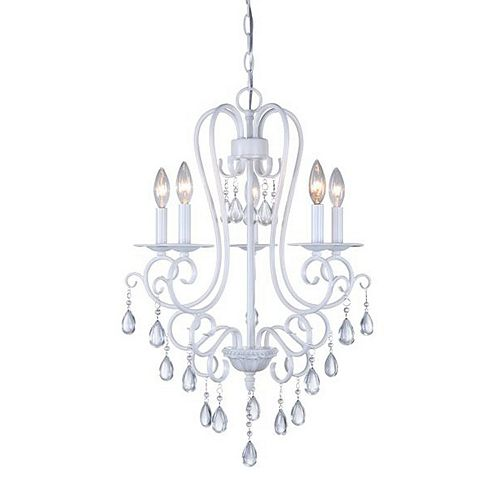 Decor Therapy 5-Light Glass Chandelier