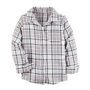 Girls 4-8 Carter's Plaid Button Down Shirt