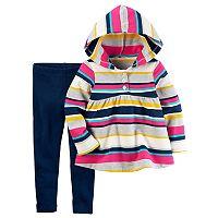 Toddler Girl Carter's Striped Hooded Top & Leggings Set