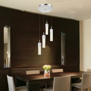 Decor Therapy 4-Light LED Pendant Chandelier