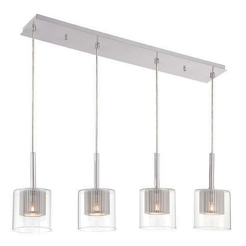 Decor Therapy 4-Light Rectangle Pendant Chandelier