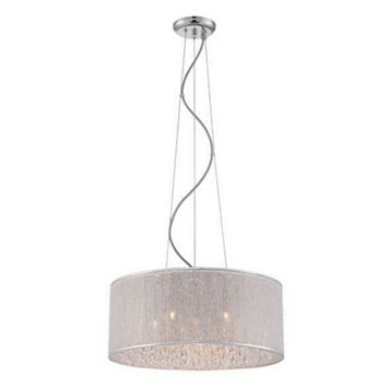 Decor Therapy 6-Light Crystal Drum Pendant Light