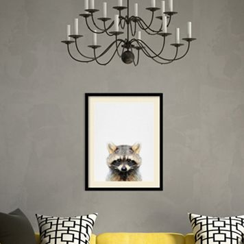 Amanti Art Raccoon Framed Wall Art
