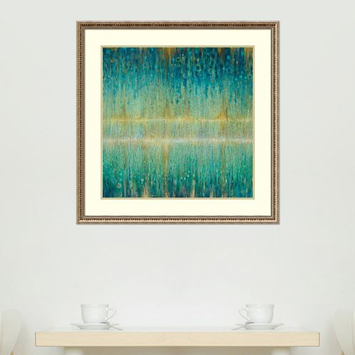 Amanti Art Rain Abstract I Framed Wall Art