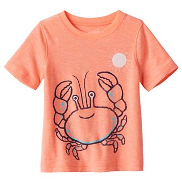 Baby Boy Jumping Beans® Wrap-Around Crab Graphic Tee