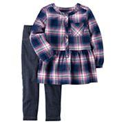 Toddler Girl Carter's Plaid Tunic & Jeggings Set