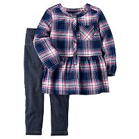 Toddler Girl Carter's Plaid Tunic & Jeggings Set