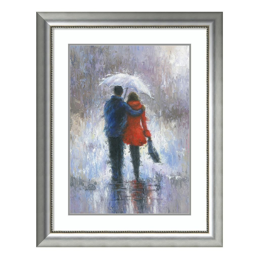 Amanti Art Rain Romance Framed Wall Art