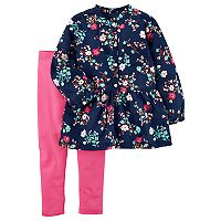 Toddler Girl Carter's Floral Tunic & Leggings Set