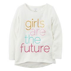Girls 4-8 Carter's 'Girls Are The Future' Long-Sleeved Tee