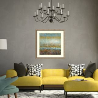 Amanti Art Rains Over The Lake Framed Wall Art