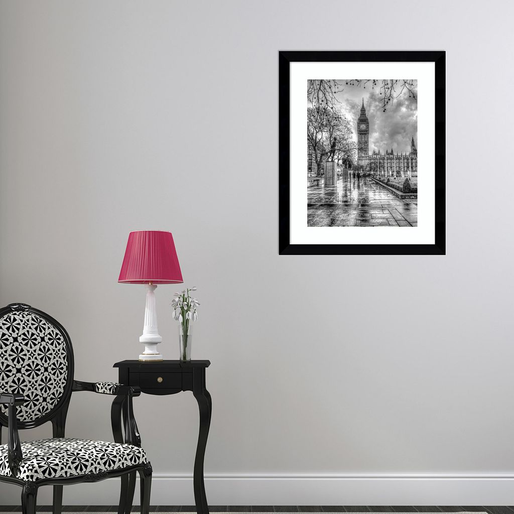 Amanti Art Rainy Day London Framed Wall Art