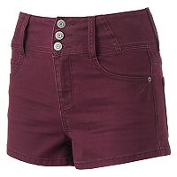 Juniors' Mudd® Super High Rise Shortie Shorts