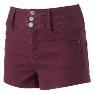 Juniors' Mudd® Super High Rise Shortie Shorts