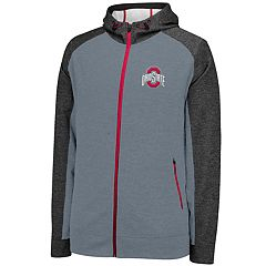 Men's Ohio State Buckeyes Rally Colorblock Fleece Hoodie