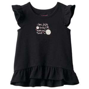 Baby Girl Jumping Beans® Graphic Ruffled High-Low Hem Tee