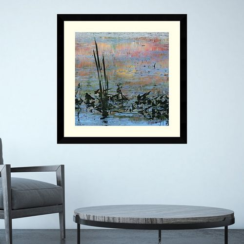 Amanti Art Reeds In Blue Framed Wall Art